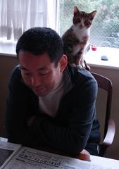ネコとわたし.JPG